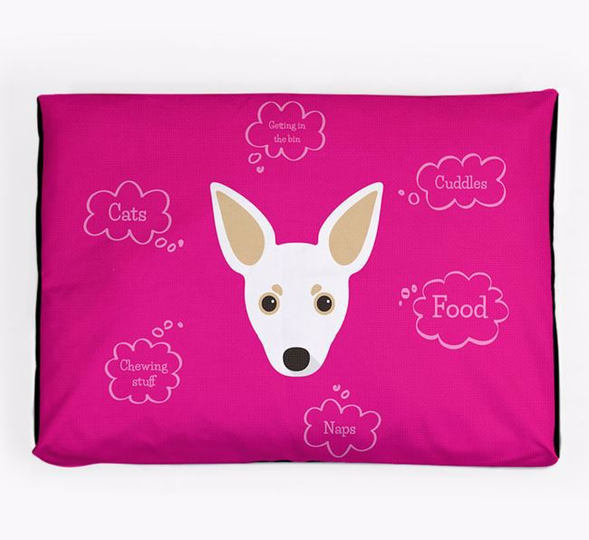 Personalised 'Sweet Dreams' Dog Bed for your Russian Toy
