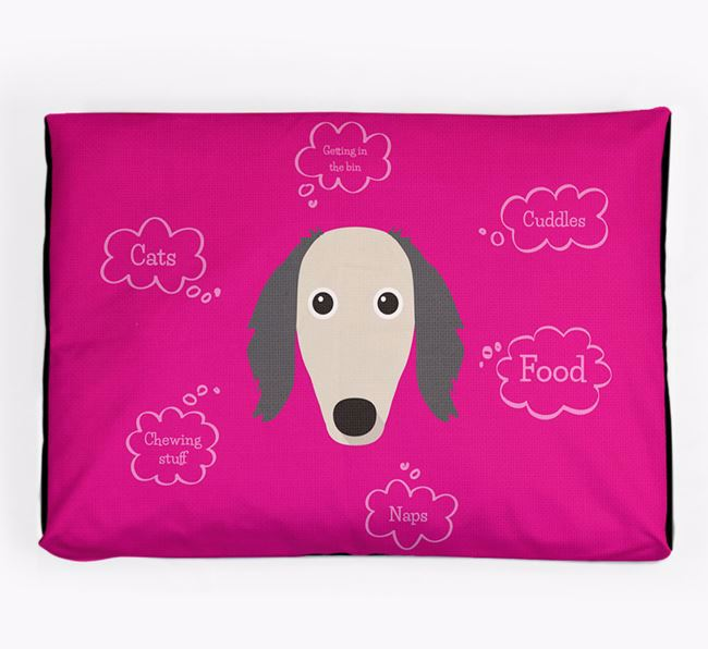 Personalised 'Sweet Dreams' Dog Bed for your Saluki