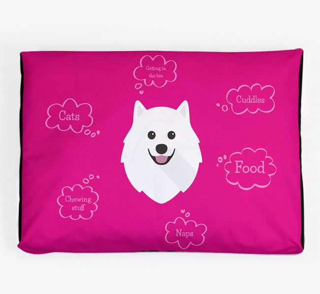 Personalised 'Sweet Dreams' Dog Bed for your Samoyed