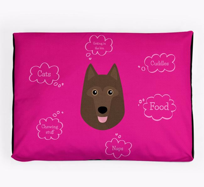 Personalised 'Sweet Dreams' Dog Bed for your Schipperke