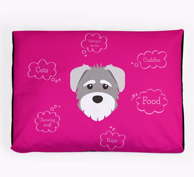 Personalised 'Sweet Dreams' Dog Bed for your Schnoodle