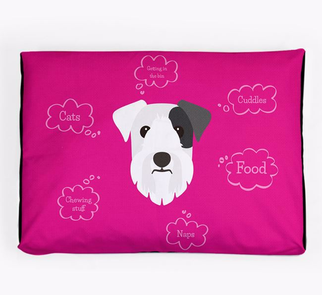 Personalised 'Sweet Dreams' Dog Bed for your Sealyham Terrier