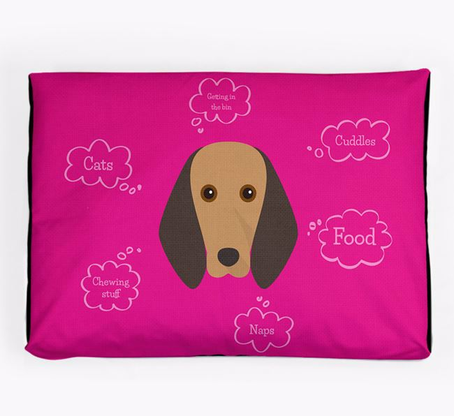 Personalised 'Sweet Dreams' Dog Bed for your Segugio Italiano