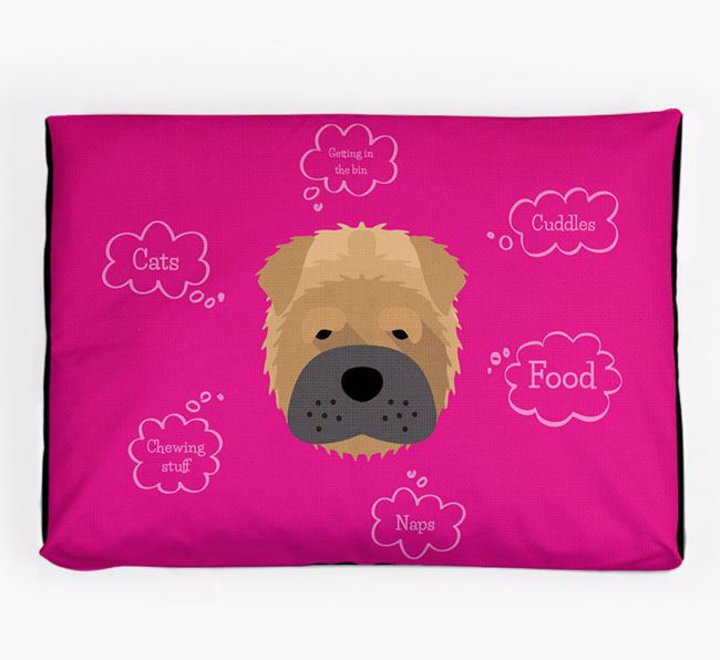 Personalised 'Sweet Dreams' Dog Bed for your Shar Pei