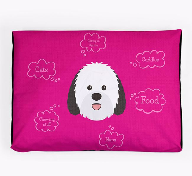 Personalised 'Sweet Dreams' Dog Bed for your Sheepadoodle
