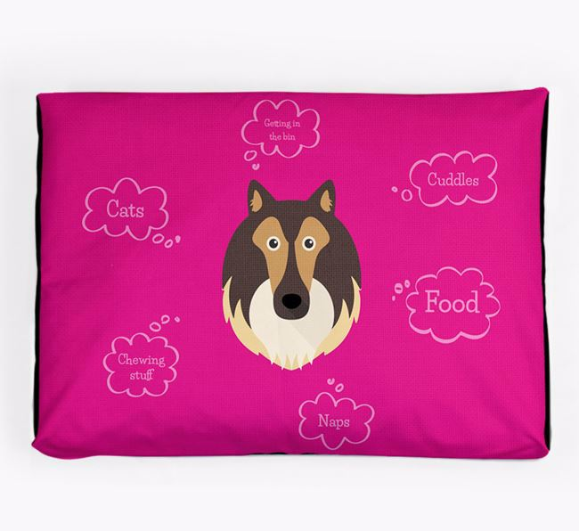 Personalised 'Sweet Dreams' Dog Bed for your Shetland Sheepdog