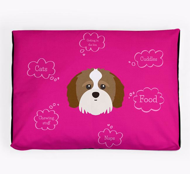 Personalised 'Sweet Dreams' Dog Bed for your Shih-poo