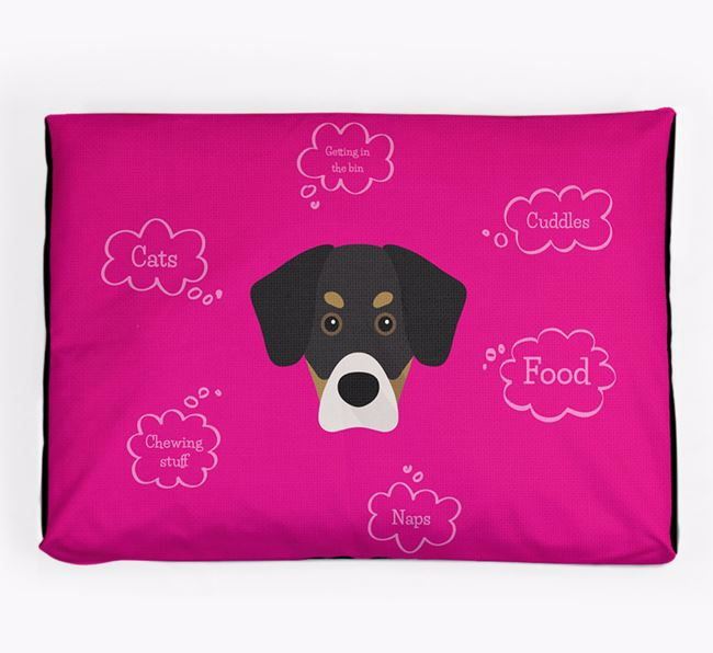 Personalised 'Sweet Dreams' Dog Bed for your Siberian Cocker
