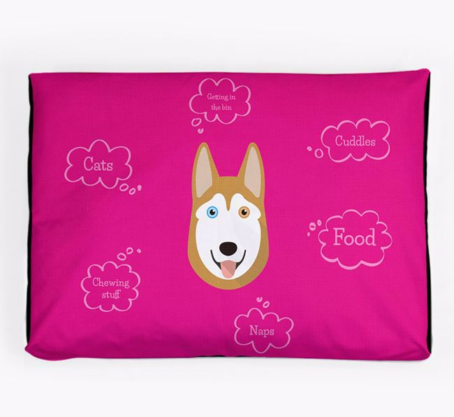 Personalised 'Sweet Dreams' Dog Bed for your Siberian Husky