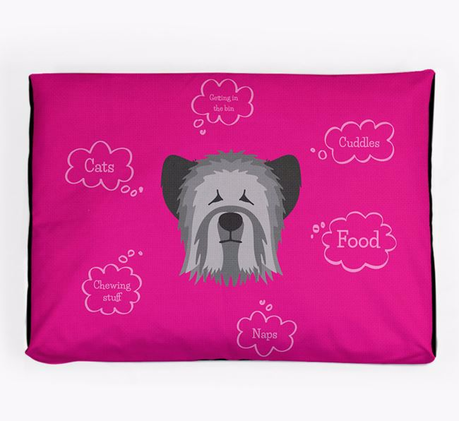 Personalised 'Sweet Dreams' Dog Bed for your Skye Terrier