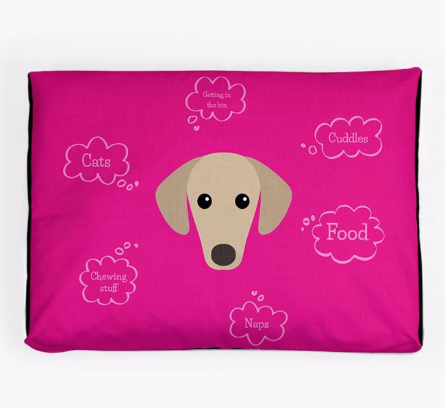 Personalised 'Sweet Dreams' Dog Bed for your Sloughi