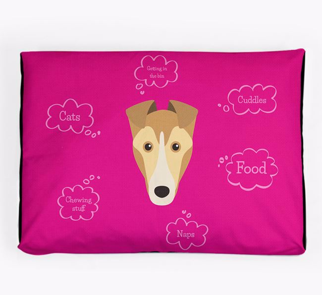 Personalised 'Sweet Dreams' Dog Bed for your Smooth Collie