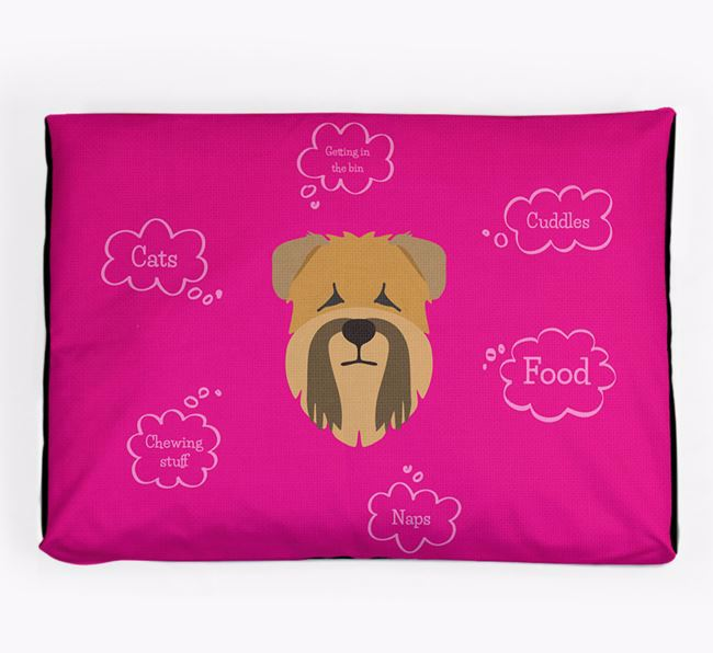 Personalised 'Sweet Dreams' Dog Bed for your Soft Coated Wheaten Terrier