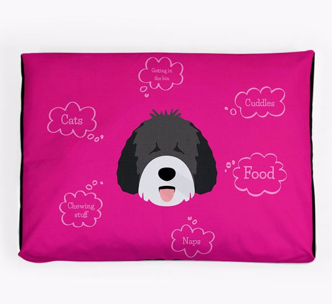 Personalised 'Sweet Dreams' Dog Bed for your Spanish Water Dog