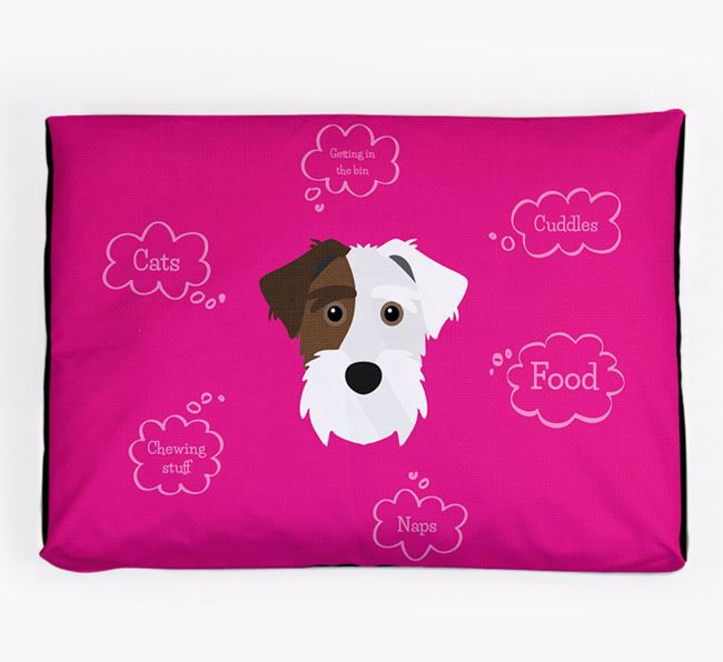 Personalised 'Sweet Dreams' Dog Bed for your Sporting Lucas Terrier