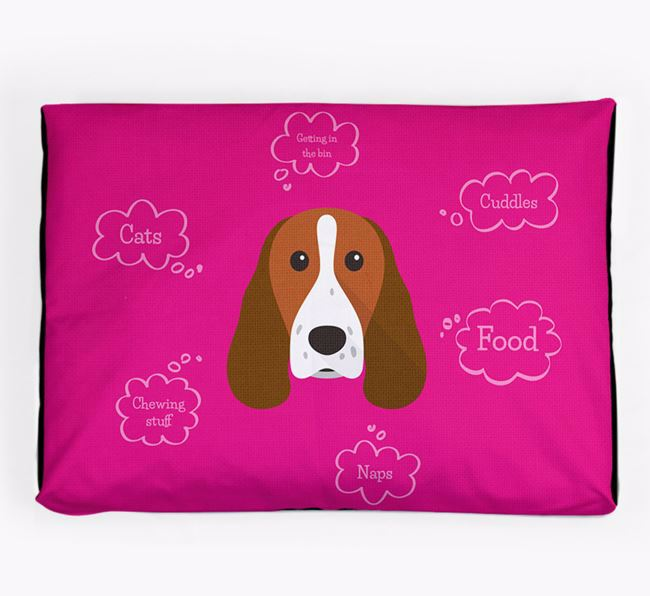 Personalised 'Sweet Dreams' Dog Bed for your Springer Spaniel