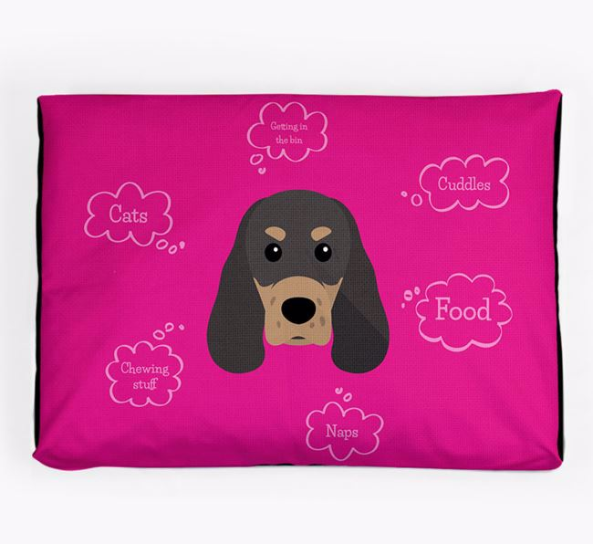 Personalised 'Sweet Dreams' Dog Bed for your Sprocker