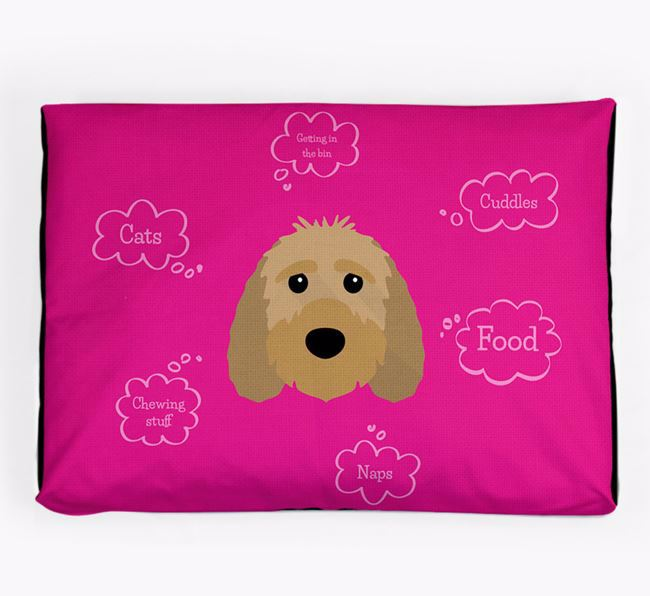 Personalised 'Sweet Dreams' Dog Bed for your Sproodle