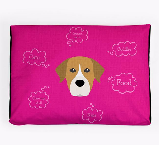 Personalised 'Sweet Dreams' Dog Bed for your Staffador