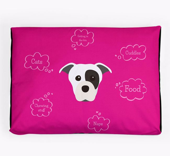 Personalised 'Sweet Dreams' Dog Bed for your Staffordshire Bull Terrier