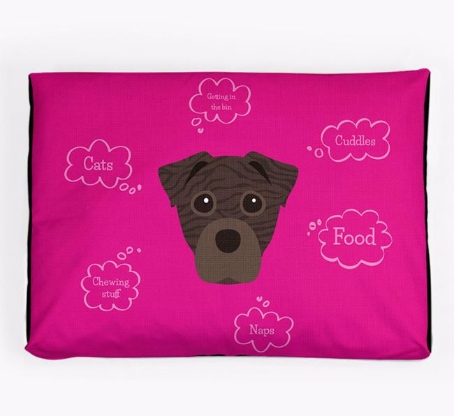Personalised 'Sweet Dreams' Dog Bed for your Staffy Jack