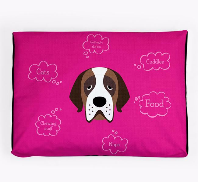 Personalised 'Sweet Dreams' Dog Bed for your St. Bernard