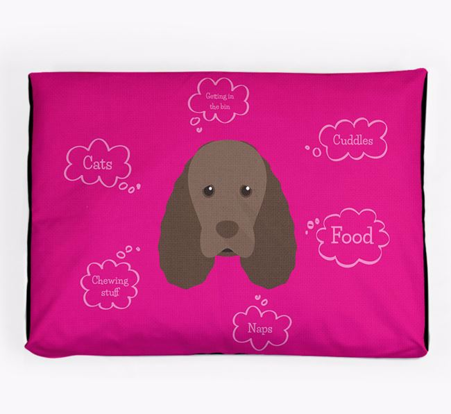 Personalised 'Sweet Dreams' Dog Bed for your Sussex Spaniel