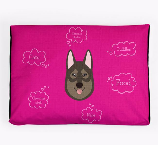 Personalised 'Sweet Dreams' Dog Bed for your Tamaskan