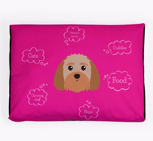 Personalised 'Sweet Dreams' Dog Bed for your Terri-Poo