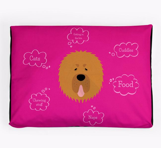 Personalised 'Sweet Dreams' Dog Bed for your Tibetan Mastiff