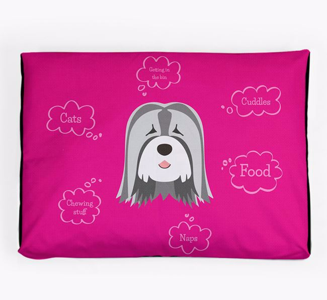 Personalised 'Sweet Dreams' Dog Bed for your Tibetan Terrier