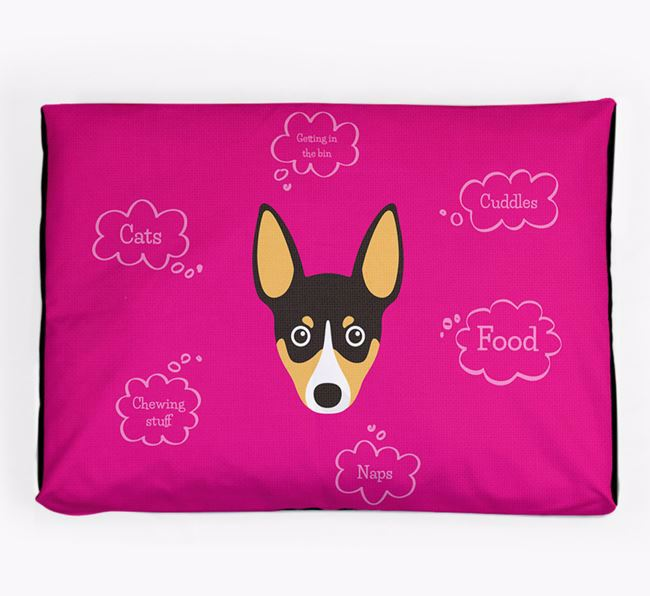 Personalised 'Sweet Dreams' Dog Bed for your Toy Fox Terrier