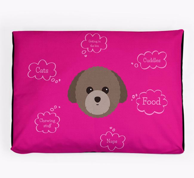 Personalised 'Sweet Dreams' Dog Bed for your Toy Poodle