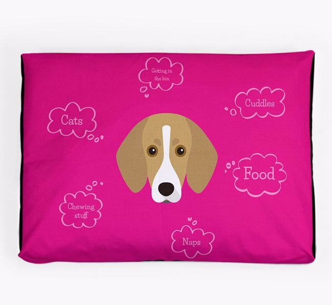 Personalised 'Sweet Dreams' Dog Bed for your Trailhound