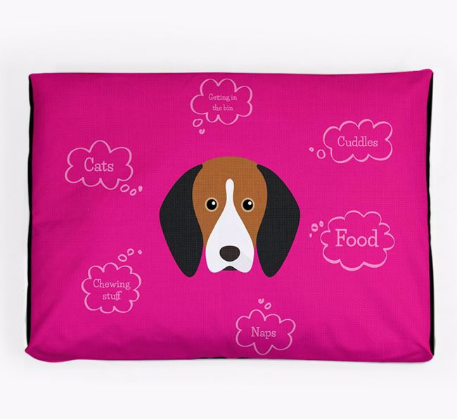 Personalised 'Sweet Dreams' Dog Bed for your Treeing Walker Coonhound