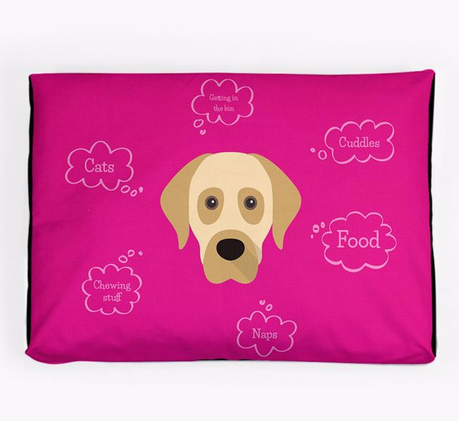 Personalised 'Sweet Dreams' Dog Bed for your Turkish Kangal Dog