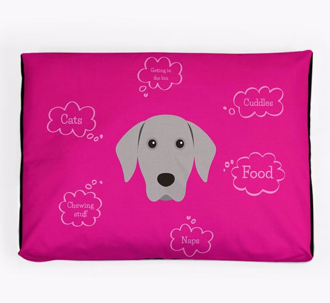 Personalised 'Sweet Dreams' Dog Bed for your Weimaraner