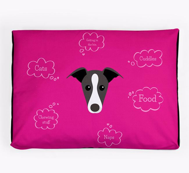 Personalised 'Sweet Dreams' Dog Bed for your Whippet