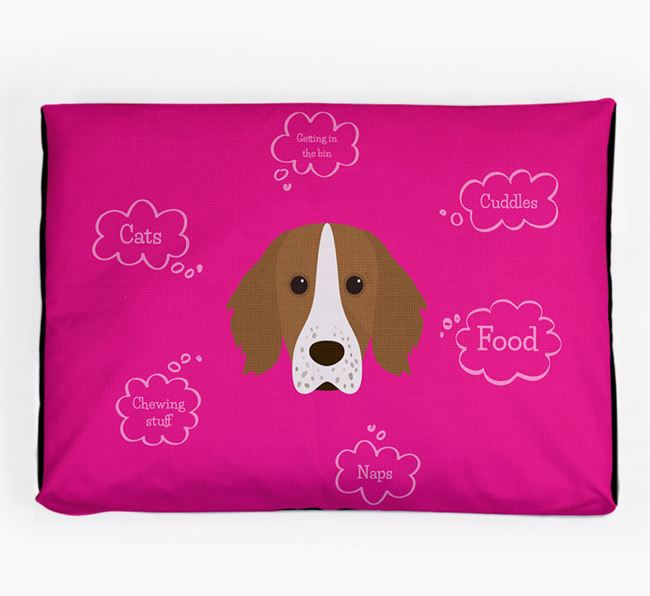 Personalised 'Sweet Dreams' Dog Bed for your Working Cocker Spaniel