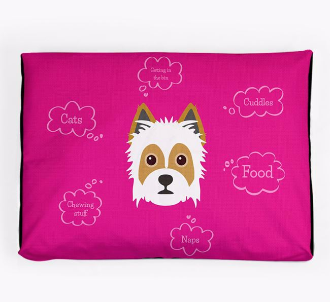 Personalised 'Sweet Dreams' Dog Bed for your Yorkie Russell
