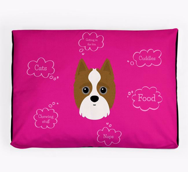 Personalised 'Sweet Dreams' Dog Bed for your Yorkipoo