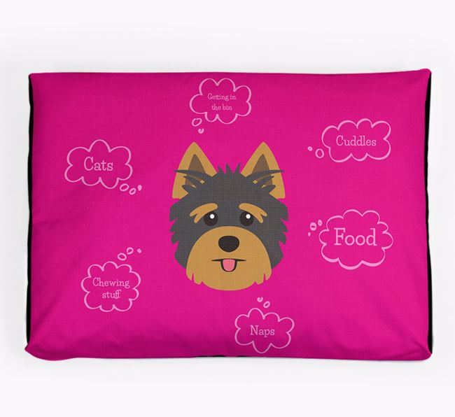 Personalised 'Sweet Dreams' Dog Bed for your Yorkshire Terrier