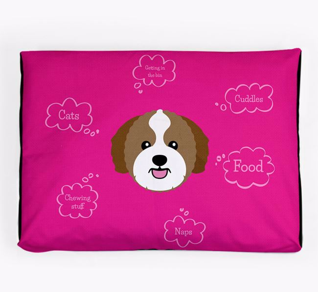 Personalised 'Sweet Dreams' Dog Bed for your Zuchon