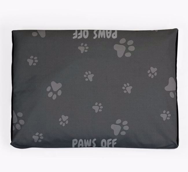 Personalised 'Paws Off' Dog Bed for your Bouvier Des Flandres