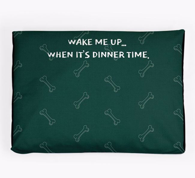 Personalised 'Wake Me Up' Dog Bed for your Toy Poodle