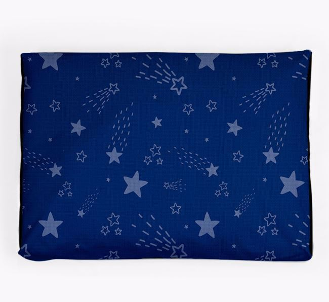 Personalised 'Shooting Stars Design' Dog Bed for your Mexican Hairless