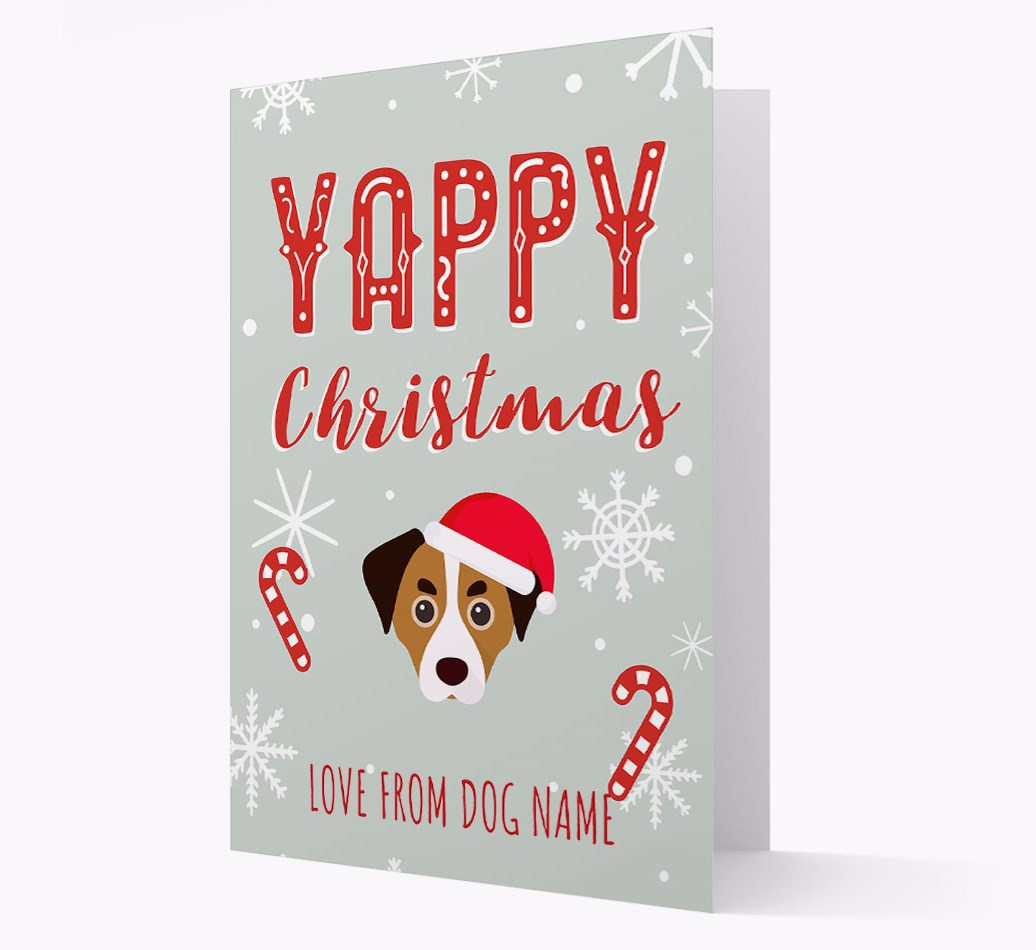 Personalised 'Yappy Christmas' Card with Cheagle Christmas Icon