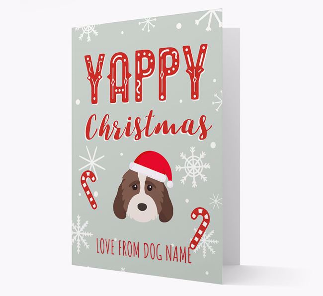 Personalised 'Yappy Christmas' Card with Cockapoo Christmas Icon