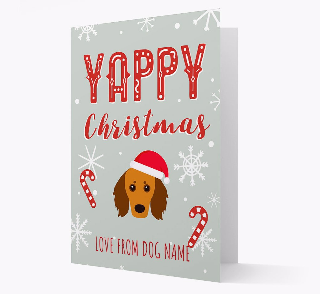 Personalised 'Yappy Christmas' Card with Doxiepoo Christmas Icon