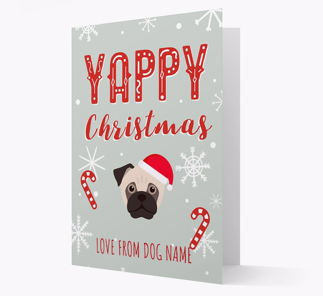 Personalised 'Yappy Christmas' Card with Jug Christmas Icon